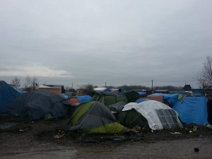 Tents in 'The Jungle' in Calais